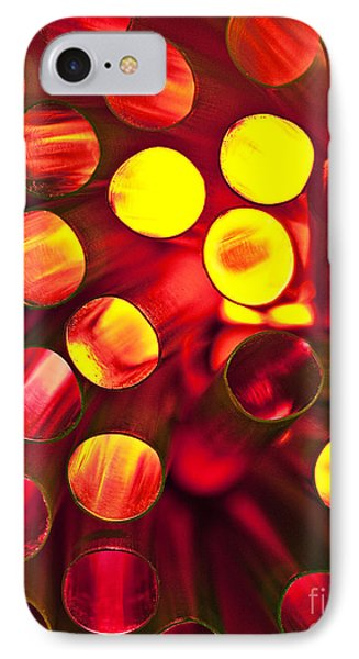 Circles Of Light Phone Case by Linda D Lester