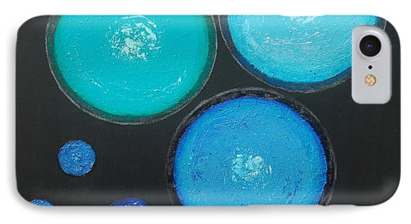 IPhone Case featuring the painting Circles Of My Mind by Mini Arora