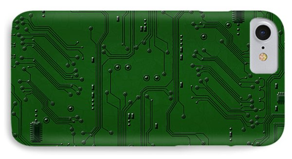 Circuit Board IPhone Case by Bedros Awak