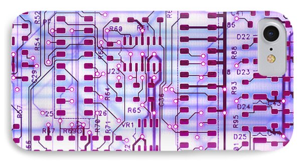 Circuit Trace II Phone Case by Jerry McElroy