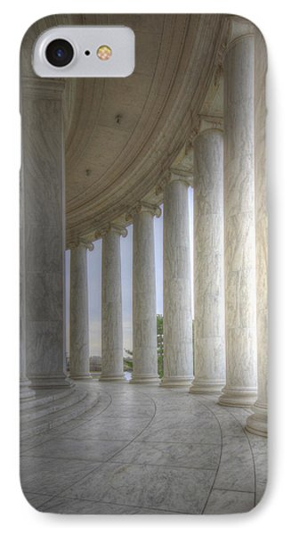 Circular Colonnade Of The Thomas Jefferson Memorial IPhone Case by Shelley Neff