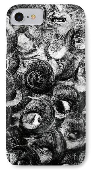 Circular Motion Blur Art - Tisha IPhone Case by Simon Bratt Photography LRPS