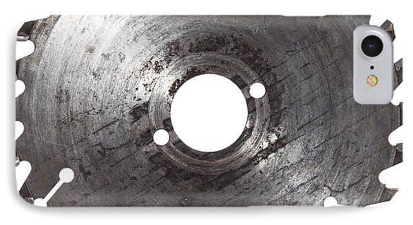 Circular Saw Blade Isolated On White Phone Case by Handmade Pictures