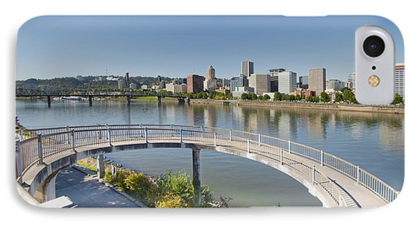 IPhone Case featuring the photograph Circular Walkway On Portland Eastbank Esplanade by JPLDesigns