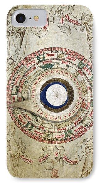 Circular Zodiacal Lunar Scheme IPhone Case