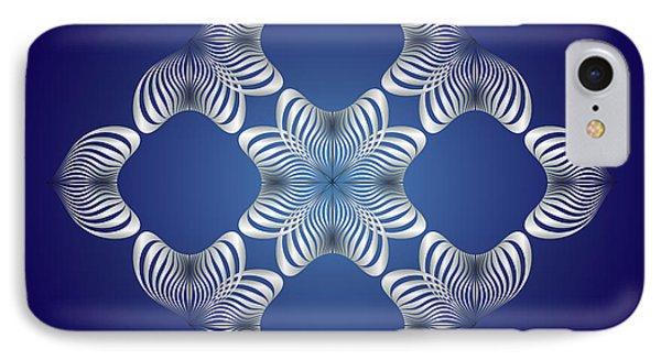 IPhone Case featuring the digital art Circularity No. 14 by Alan Bennington