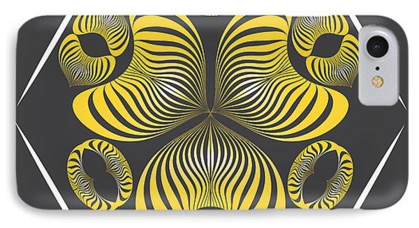 IPhone Case featuring the digital art Circularity No. 15 by Alan Bennington