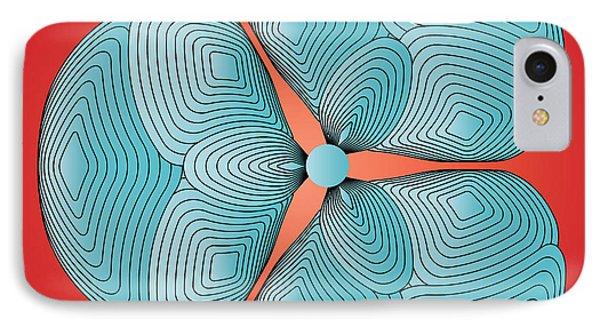 IPhone Case featuring the digital art Circularity No. 25 by Alan Bennington