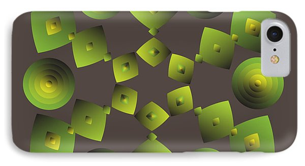 IPhone Case featuring the digital art Circularity No. 27 by Alan Bennington