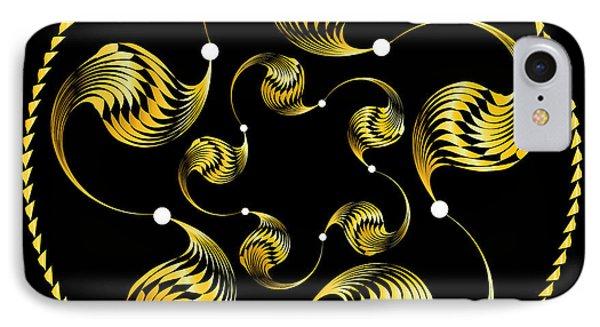 IPhone Case featuring the digital art Circularity No. 41 by Alan Bennington