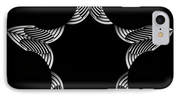IPhone Case featuring the digital art Circularity No. 44 by Alan Bennington