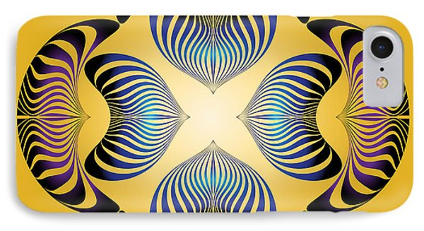 IPhone Case featuring the digital art Circularity No.12 by Alan Bennington
