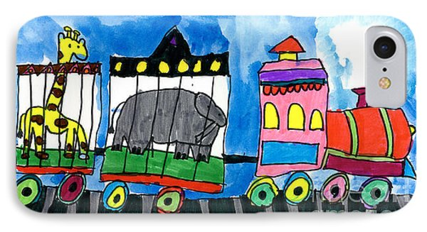 Circus Train Phone Case by Max Kaderabek Age Eight