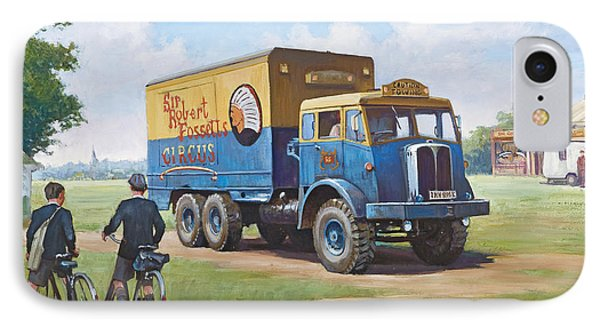 Circus Truck Phone Case by Mike  Jeffries
