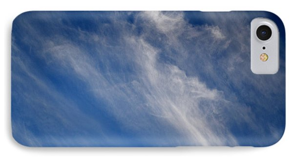 IPhone Case featuring the digital art Cirrus Clouds And Blue Sky 2  by Lyle Crump