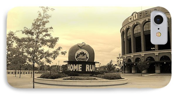 Citi Field In Sepia Phone Case by Rob Hans
