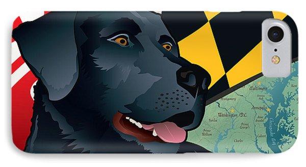 Maryland Black Lab IPhone Case