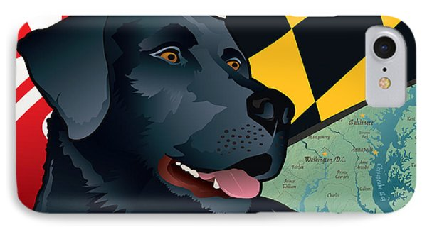 Maryland Black Lab IPhone Case by Joe Barsin