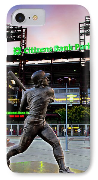 Citizens Bank Park - Mike Schmidt Statue IPhone Case