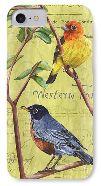 Citron Songbirds 2 IPhone Case by Debbie DeWitt