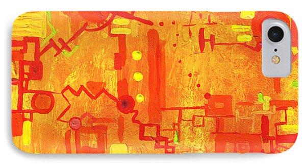 Citrus Circuitry Phone Case by Regina Valluzzi