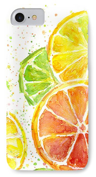 Citrus Fruit Watercolor IPhone 7 Case