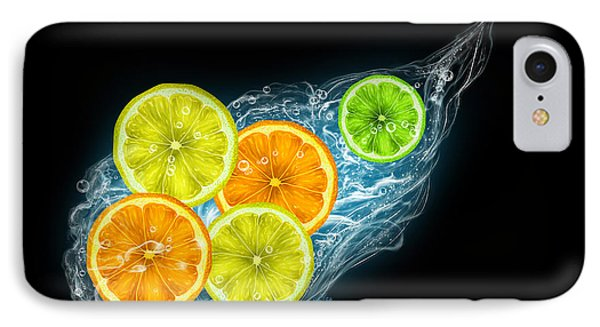 Citrus Fruits On A Black Background IPhone Case