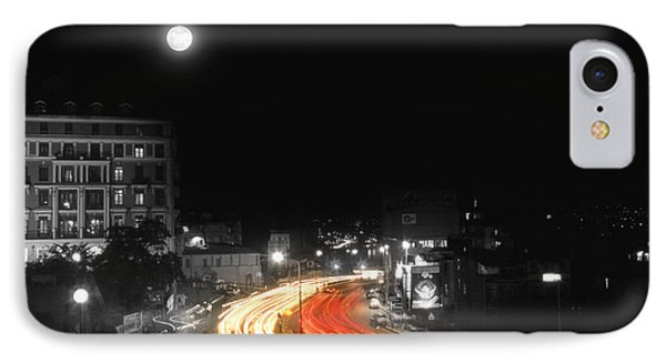 City And The Moon Phone Case by Taylan Apukovska