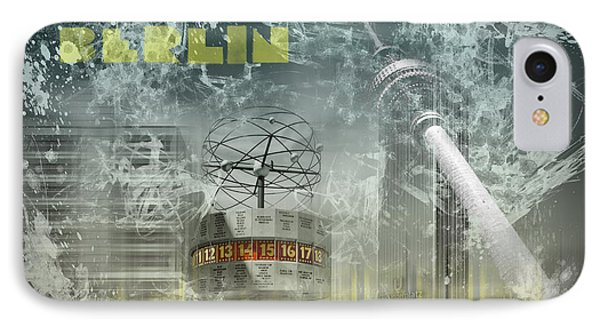 City-art Berlin Alexanderplatz  Phone Case by Melanie Viola