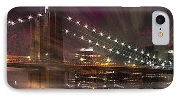 City-art Brooklyn Bridge Phone Case by Melanie Viola