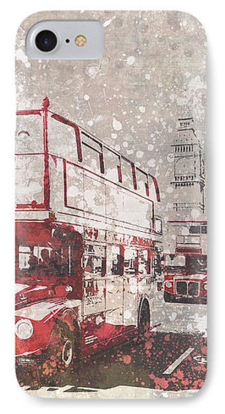 City-art London Red Buses II IPhone 7 Case by Melanie Viola