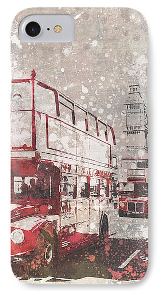 City-art London Red Buses II IPhone Case by Melanie Viola