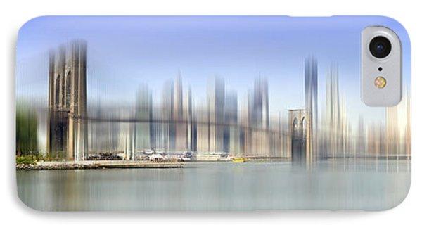 City-art Manhattan Skyline I IPhone Case by Melanie Viola