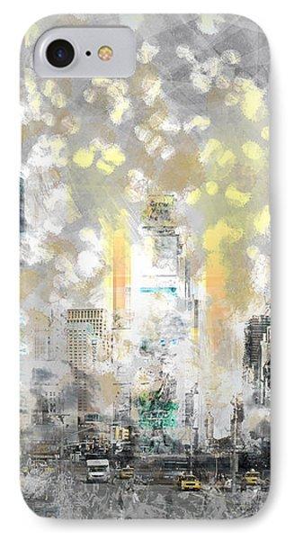 City-art Manhattan Sunflower IPhone Case by Melanie Viola
