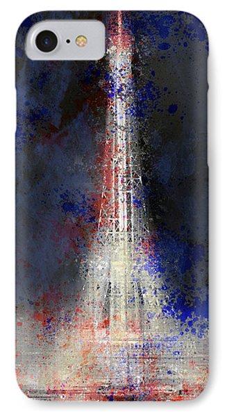 City-art Paris Eiffel Tower In National Colours Phone Case by Melanie Viola