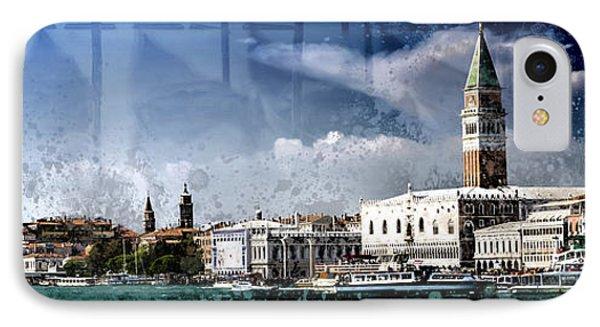 City-art Venice Panoramic IPhone Case by Melanie Viola