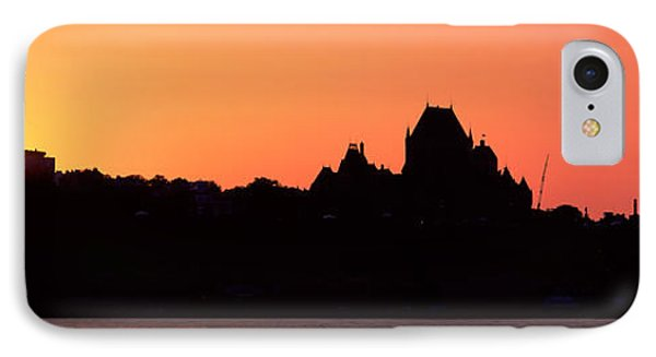 City At Sunset, Chateau Frontenac IPhone Case by Panoramic Images
