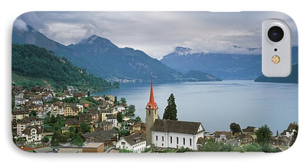 City At The Lakeside, Lake Lucerne IPhone Case by Panoramic Images