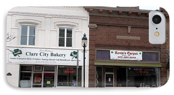 City Bakery In Clare Michigan IPhone Case by Terri Gostola