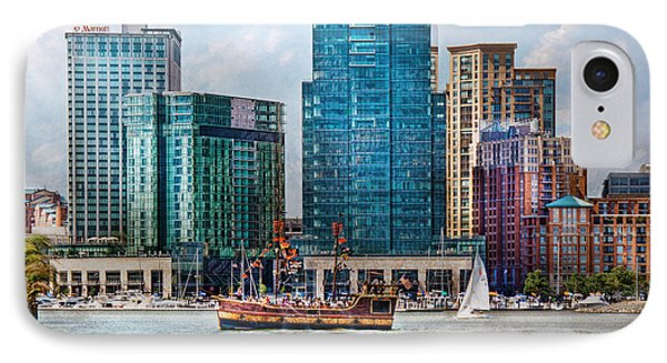City - Baltimore Md - Harbor East  Phone Case by Mike Savad