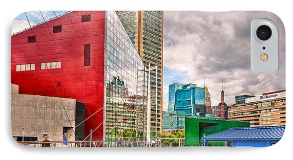 City - Baltimore Md - Harbor Place - Future City  Phone Case by Mike Savad