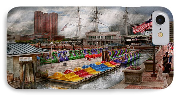 City - Baltimore Md - Modern Maryland Phone Case by Mike Savad