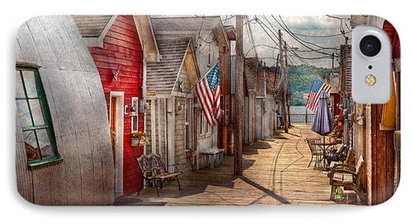 City - Canandaigua Ny - Shanty Town  Phone Case by Mike Savad