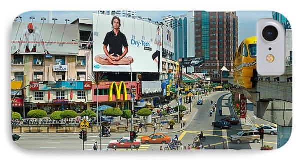 City Centre Scene - Kuala Lumpur - Malaysia Phone Case by David Hill