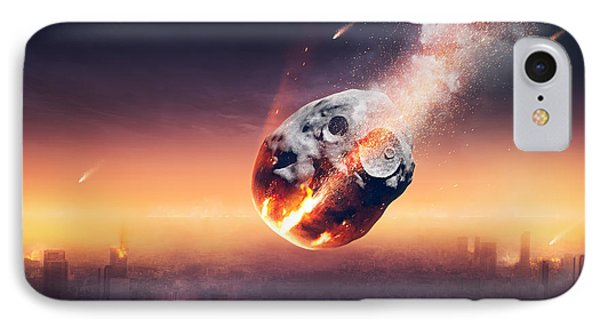 City Destroyed By Meteor Shower IPhone Case by Johan Swanepoel