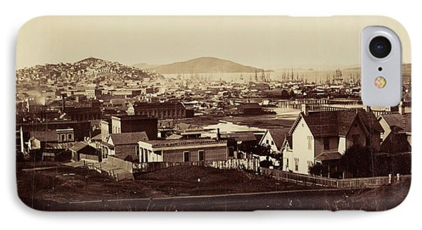 City Front From Rincon Hill In 1860 Carleton Watkins IPhone Case
