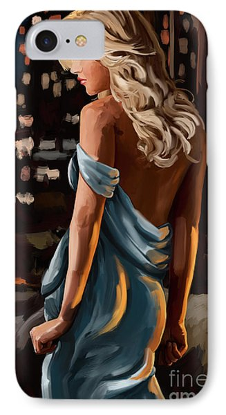 IPhone Case featuring the painting City Girl by Tim Gilliland