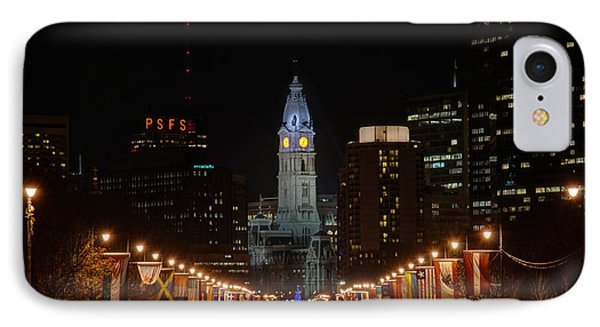 City Hall At Night IPhone Case by Jennifer Ancker