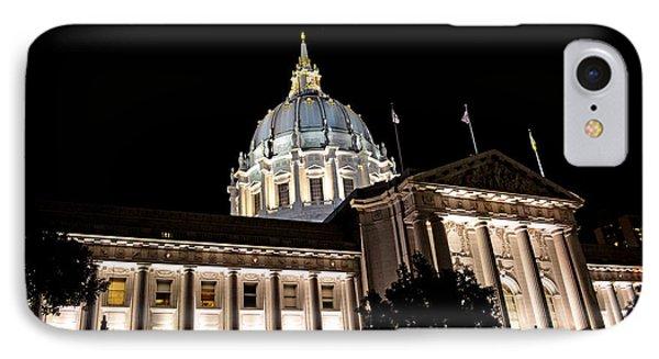 City Hall San Francisco At Night Phone Case by Jim Fitzpatrick