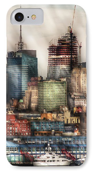 City - Hoboken Nj - New York Skyscrapers Phone Case by Mike Savad